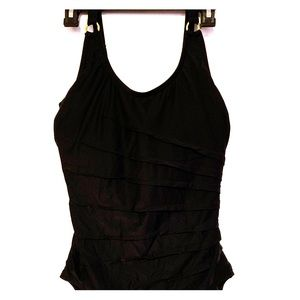 Calvin Klein size 14 black one piece swimsuit!